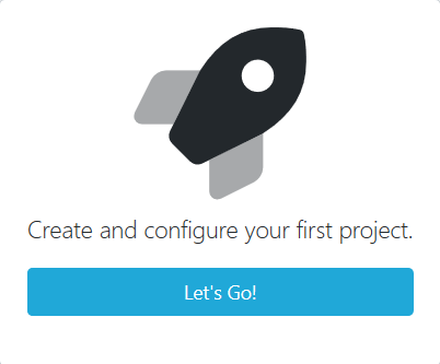 Create a project button